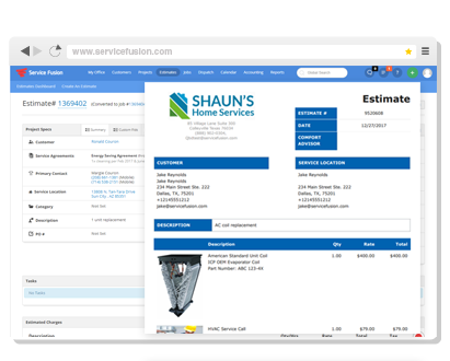 Field Service Management Software Scheduling Dispatching - Invoice processing jobs from home