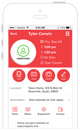 HVAC Service Software - Field Worker Mobile App